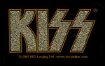 Kiss - Patch, Gold logo