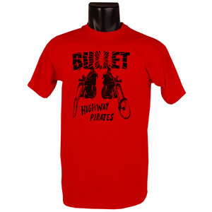 BULLET - T-SHIRT, HIGHWAY PIRATES, BIKES (RED)