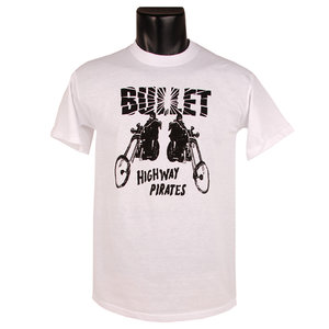 BULLET - T-SHIRT, HIGHWAY PIRATES, BIKES (WHITE)