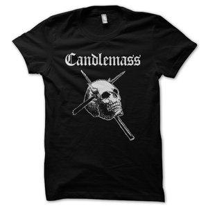 Candlemass - T-shirt, White Skull
